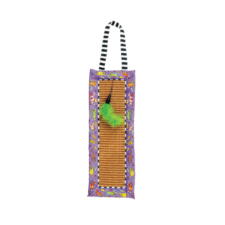 Scratchy Mat Doorknob Hanger - Fat Cat