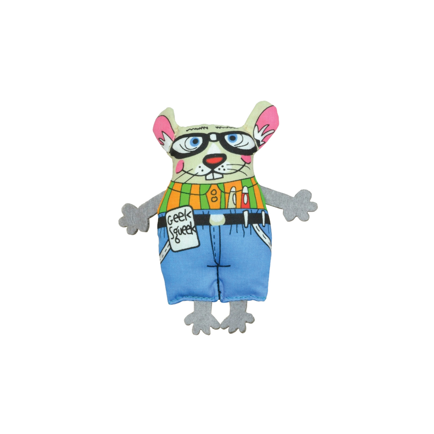 Madcap Geeky Squeek Mouse - Petstages